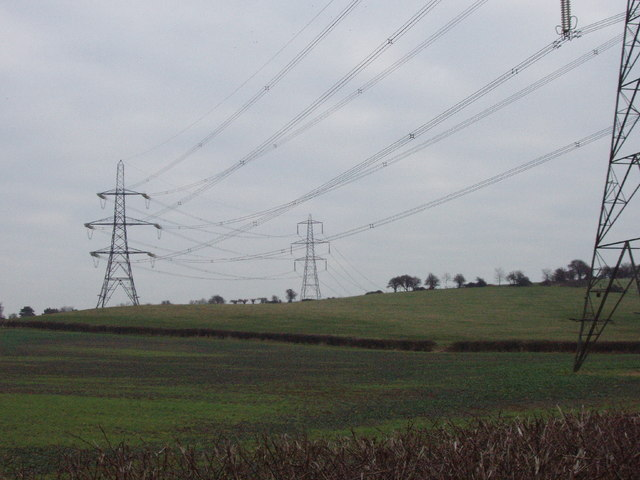 Power lines and pylons at Horspath