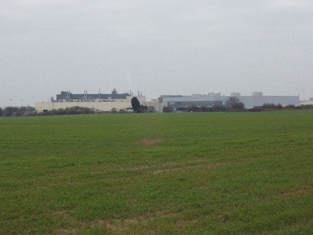 Field at Horspath, motor works beyond