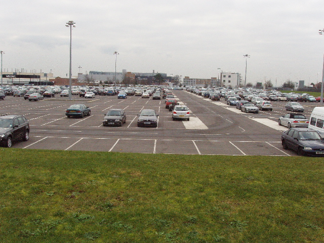Car park of motor works, Cowley