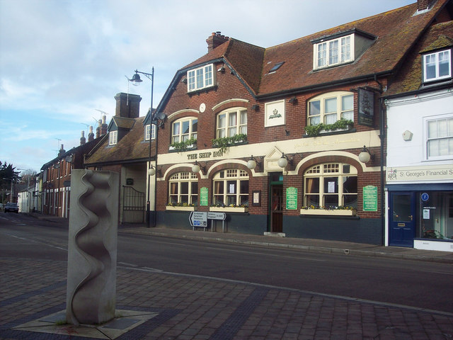 Sculpture for the Queen's Golden Jubilee and The Ship Inn