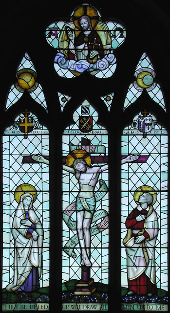 St Peter & St Paul, Temple Ewell, Kent - East window
