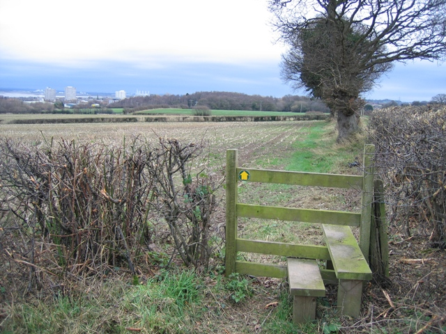 Stile on the Footpath between Flint and Bagillt