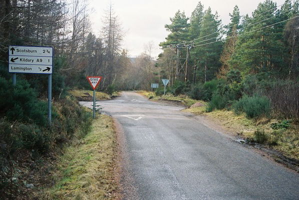 Road Junction near Lamington