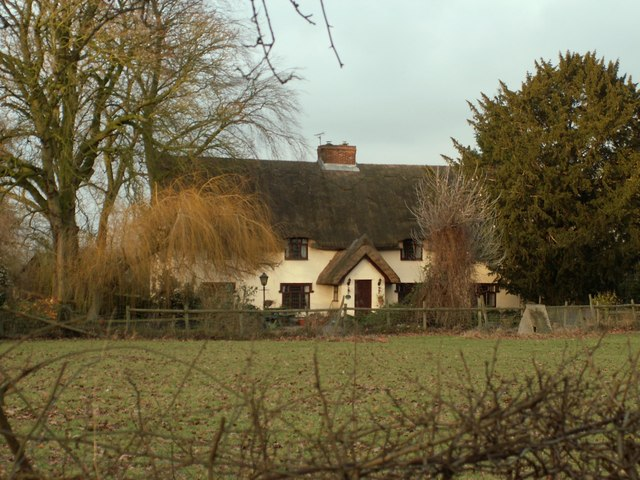 Thatched cottage at White Hall Farm
