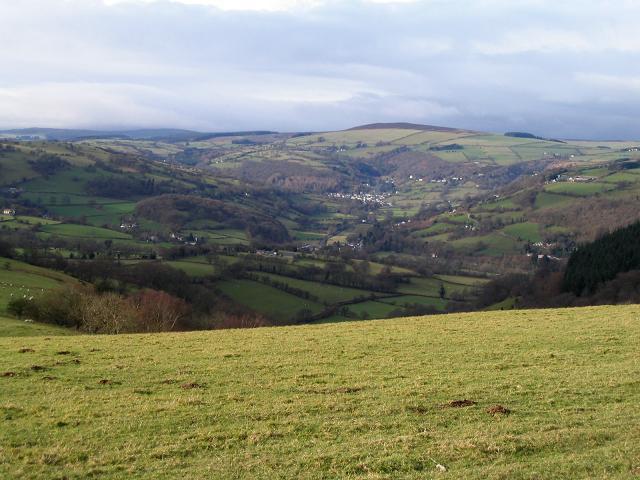 View towards the Ceiriog valley