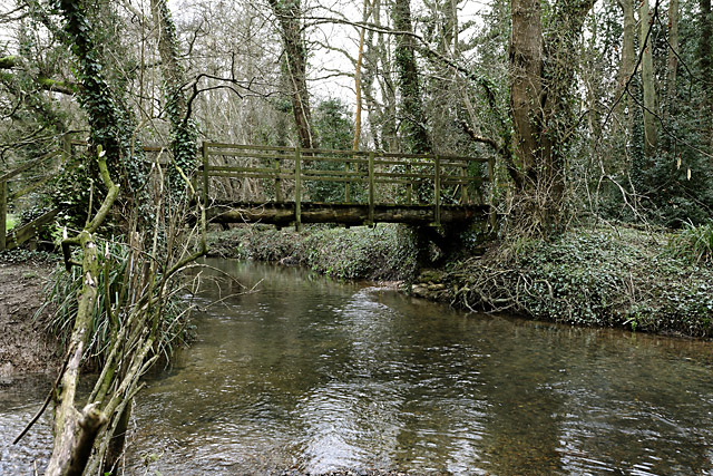 Footbridge over River Hamble at Durley Mill