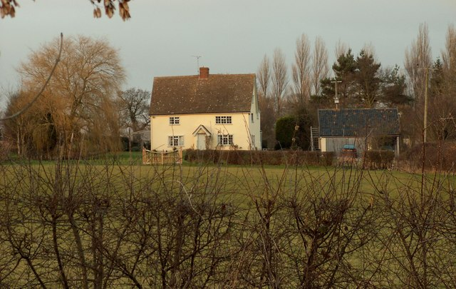 Hill Cottage, as seen from Low Road