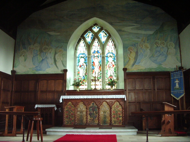 Interior of Parish Church of St John, Helsington