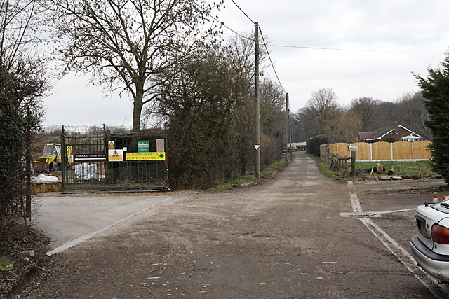 Hambrooks Nurseries and footpath from Wangfield Lane to Durley Mill