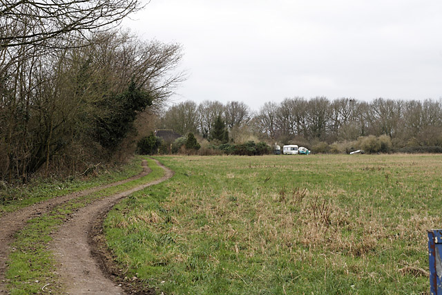 Frogmill Farm seen from footpath