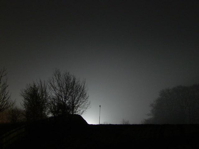 M4 night-time roadworks, near Peaks Wood