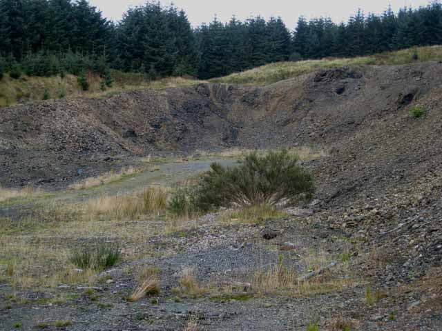 Forest quarry, Clatteringshaws Forest