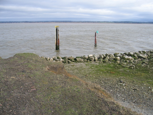 Marker Posts at the Point on Flint Marsh