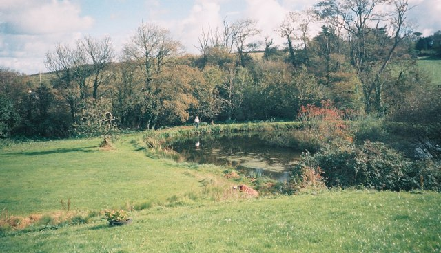 Fishing pond at Lestowder Farm