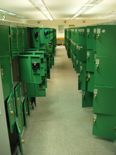 Lockers at the British Library
