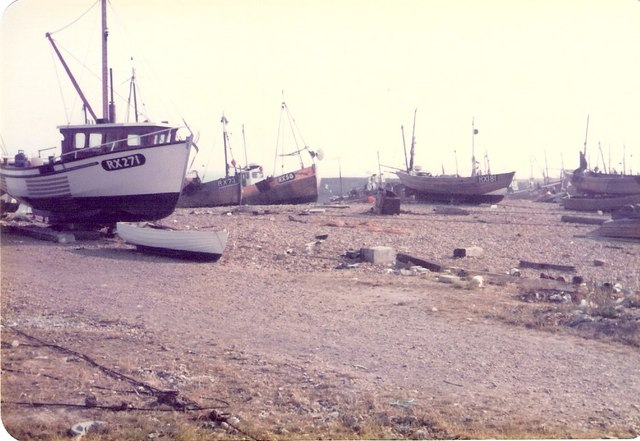 Fishing boats on East Beach