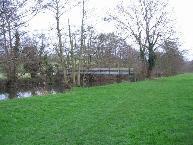 Footbridge over the Mells River