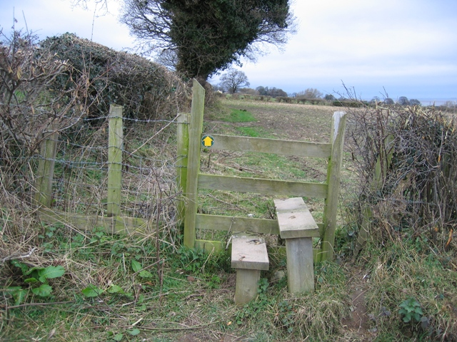 Stile on the Footpath from Flint to Bagillt
