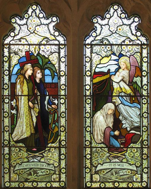 All Saints, Waldershare, Kent - Window
