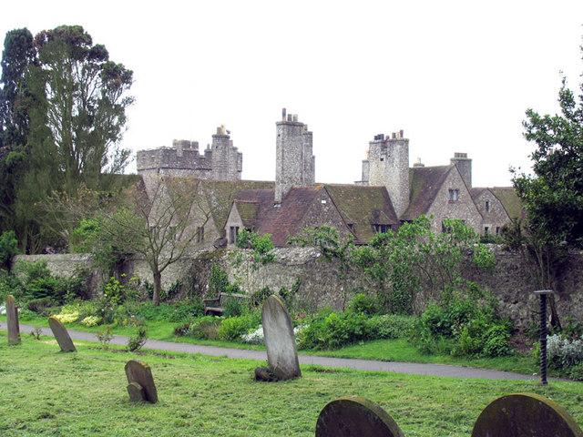 Lympne Castle, Kent - from churchyard