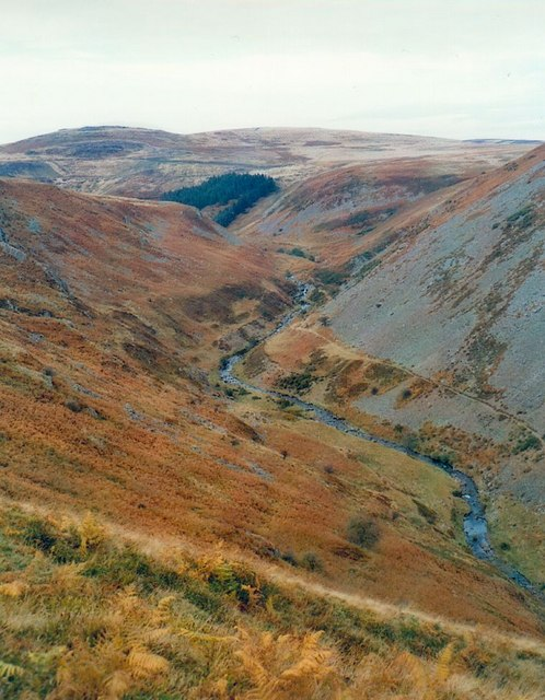 Deeply incised valley of the Carey Burn