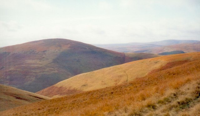 Mid Hope valley and Shillhope Law