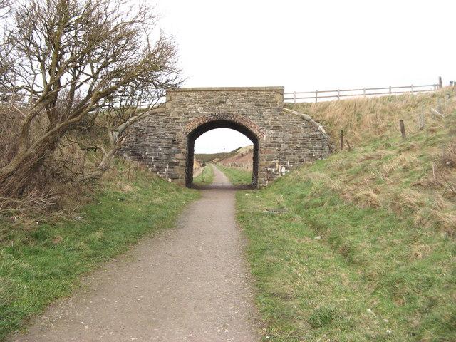 Bridge over dismantled railway at Portgordon