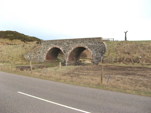 Bridge over Burn of Gollachy, near Buckie.