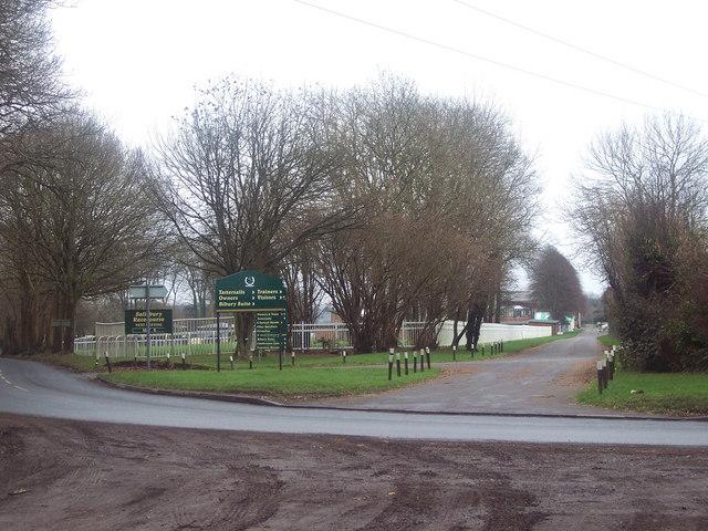 Entrance to Salisbury Racecourse