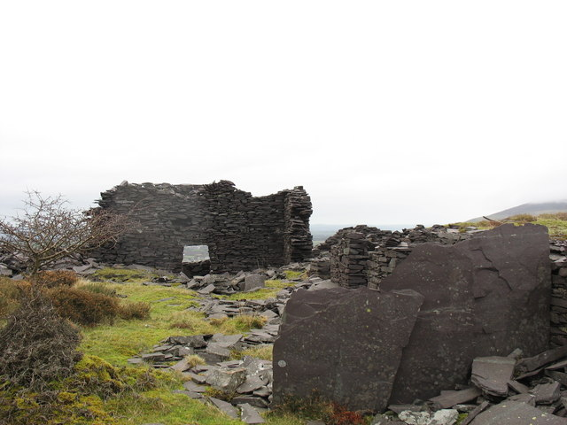 The northern end of the ruined steam mill at Cook&Ddol Quarries