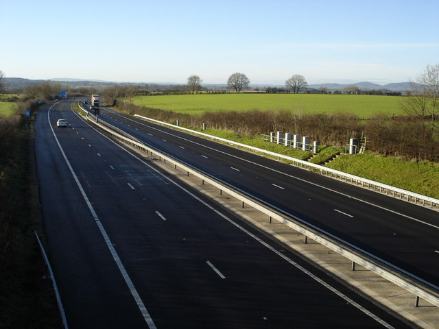 The M50 approaching junction 1