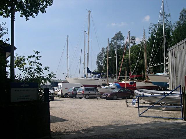 Boatyard at Weir Quay