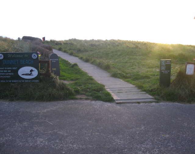 Access to Dunnet Beach