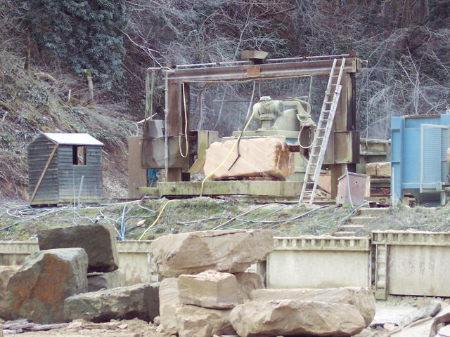 Stone being worked at Chilmark