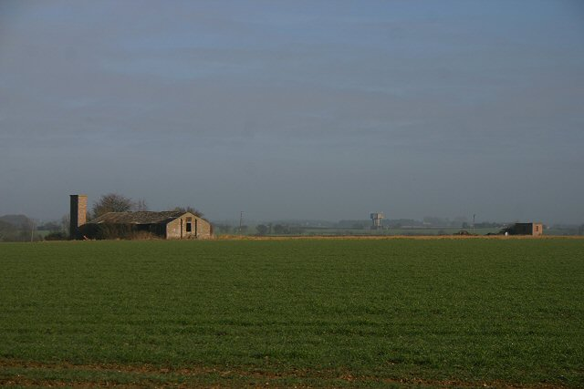 Former airfield buildings on Lavenham Airfield