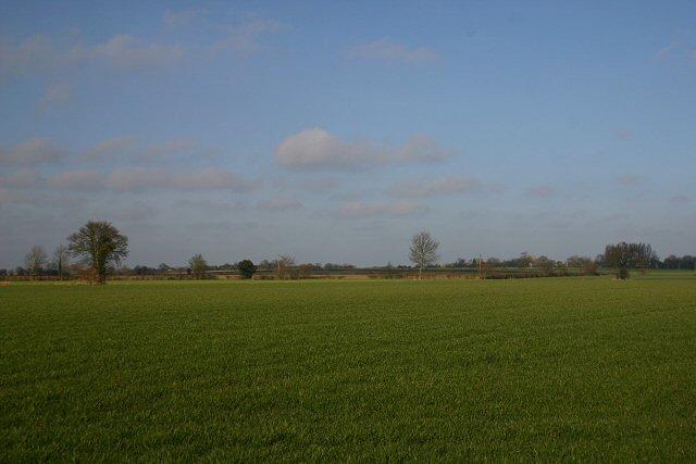 Open farmland at Brettenham