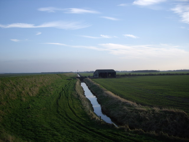 Farm Building and Drainage Channel by Sir Peter Scott Walk
