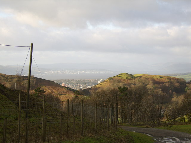View to Firth of Clyde from Milton Hills