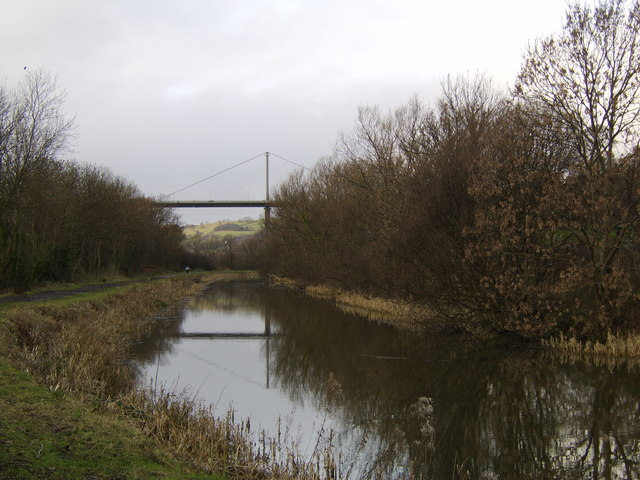 West along canal, Dalmuir