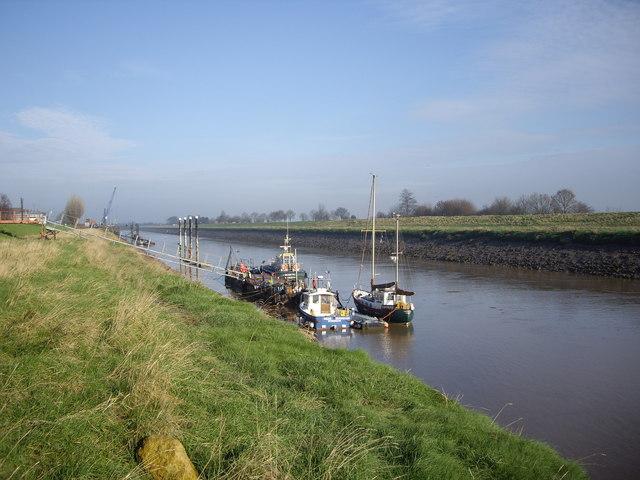 River Nene at low tide, Sutton Bridge