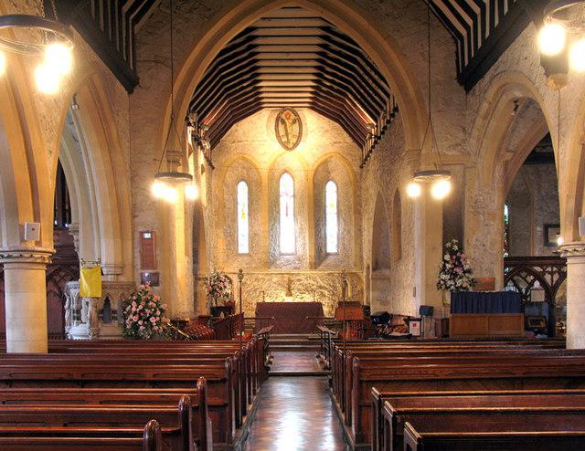 St John the Baptist, Erith, Kent - East end