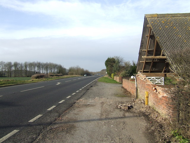 A631 by Woodhouse Farm