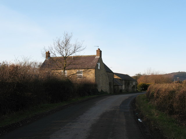 High Kilburn Grange and road to Kilburn