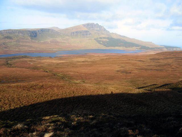 Moorland east of Storr Lochs
