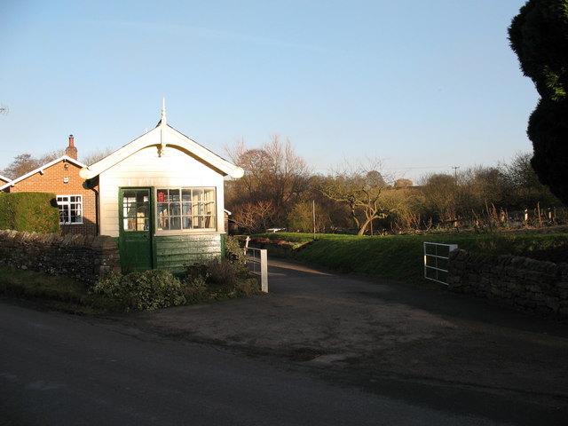 Old railway hut by former level crossing at Coxwold.