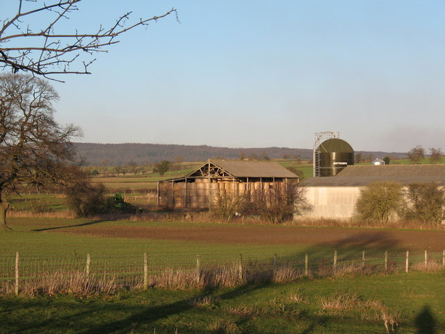 Farm buildings at Angram Hall