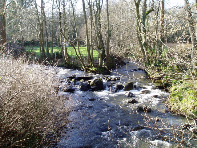 River Corris flowing into the Clywedog.