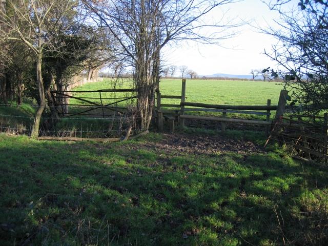 Stile near Lea Newbold Farm