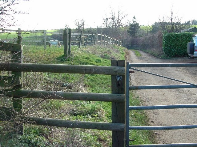 Gated road to Hinton
