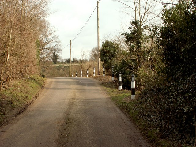 Sandy Lane, heading towards Tuddenham St. Martin